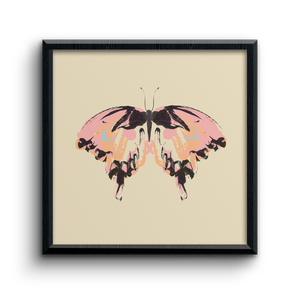 Butterfly square art print