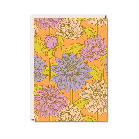 Dahlia pattern greeting card