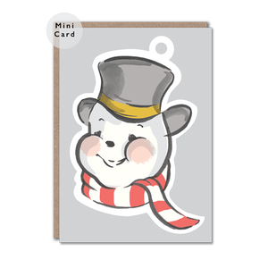 Snowman character christmas card