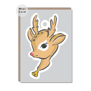 Rudolph character christmas card