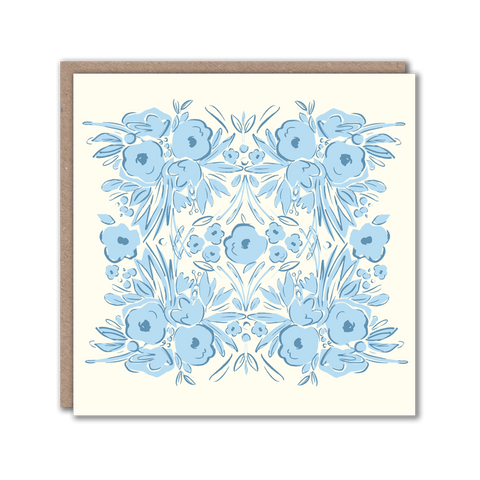 blue patterned card