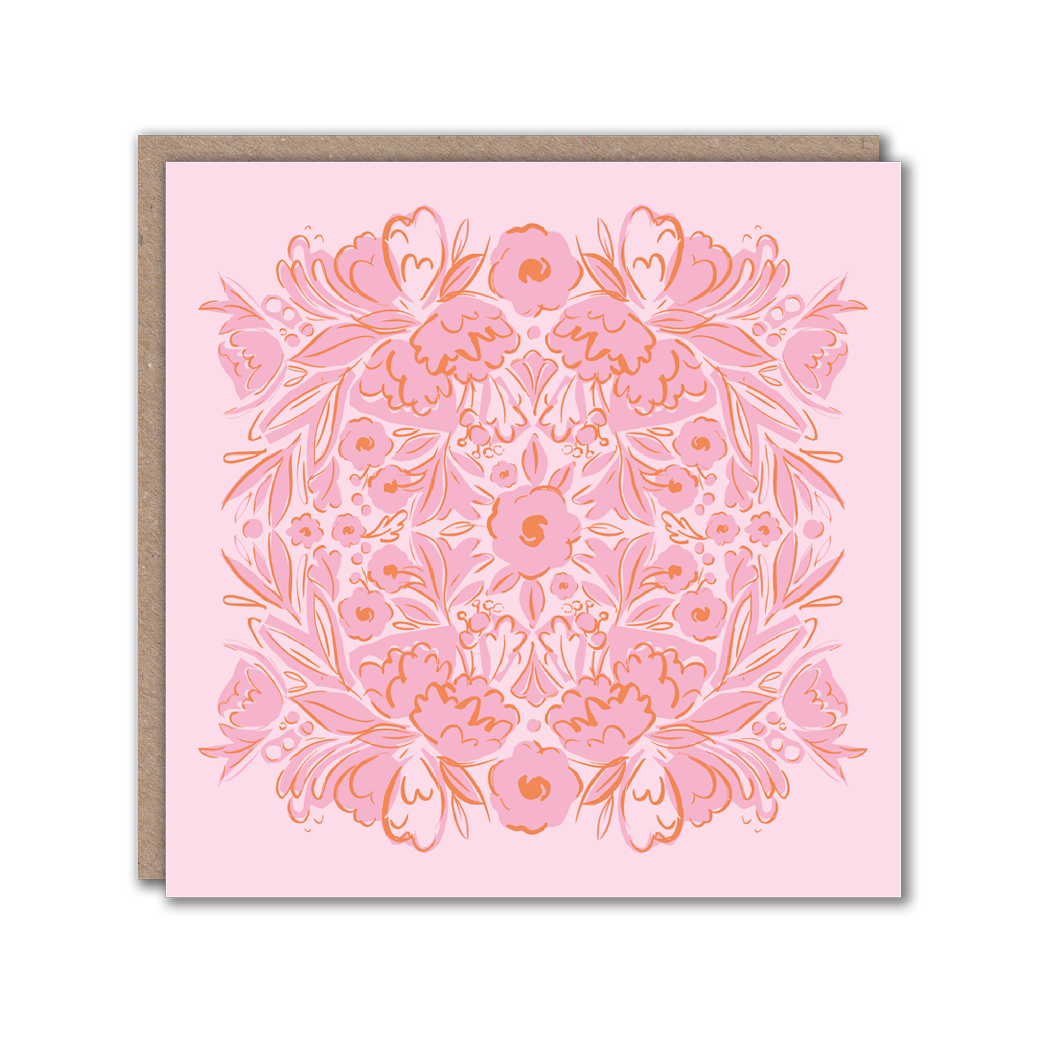pink patterned card