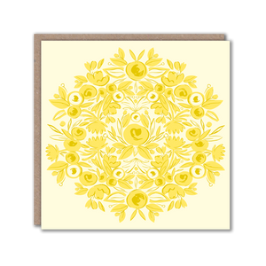 yellow patterned card