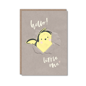 New baby chick character card