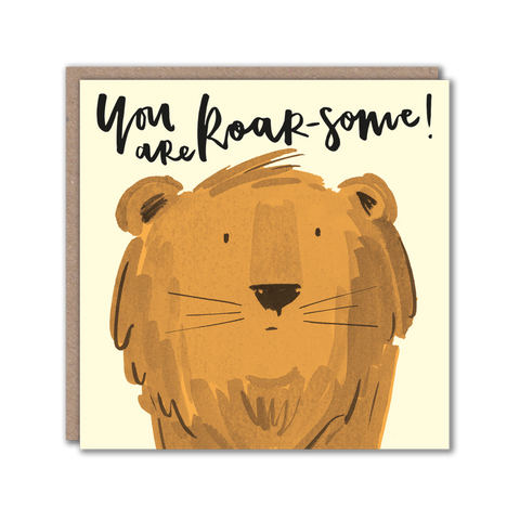 lion character greeting card