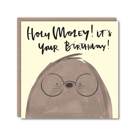 Mole character greeting card