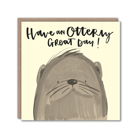 Otter character greeting card