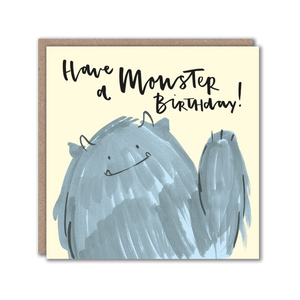Monster character greeting card