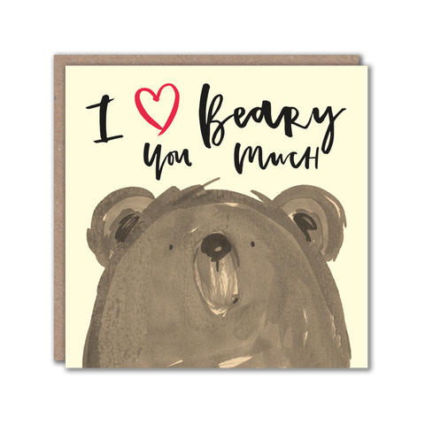 Bear character valentine card