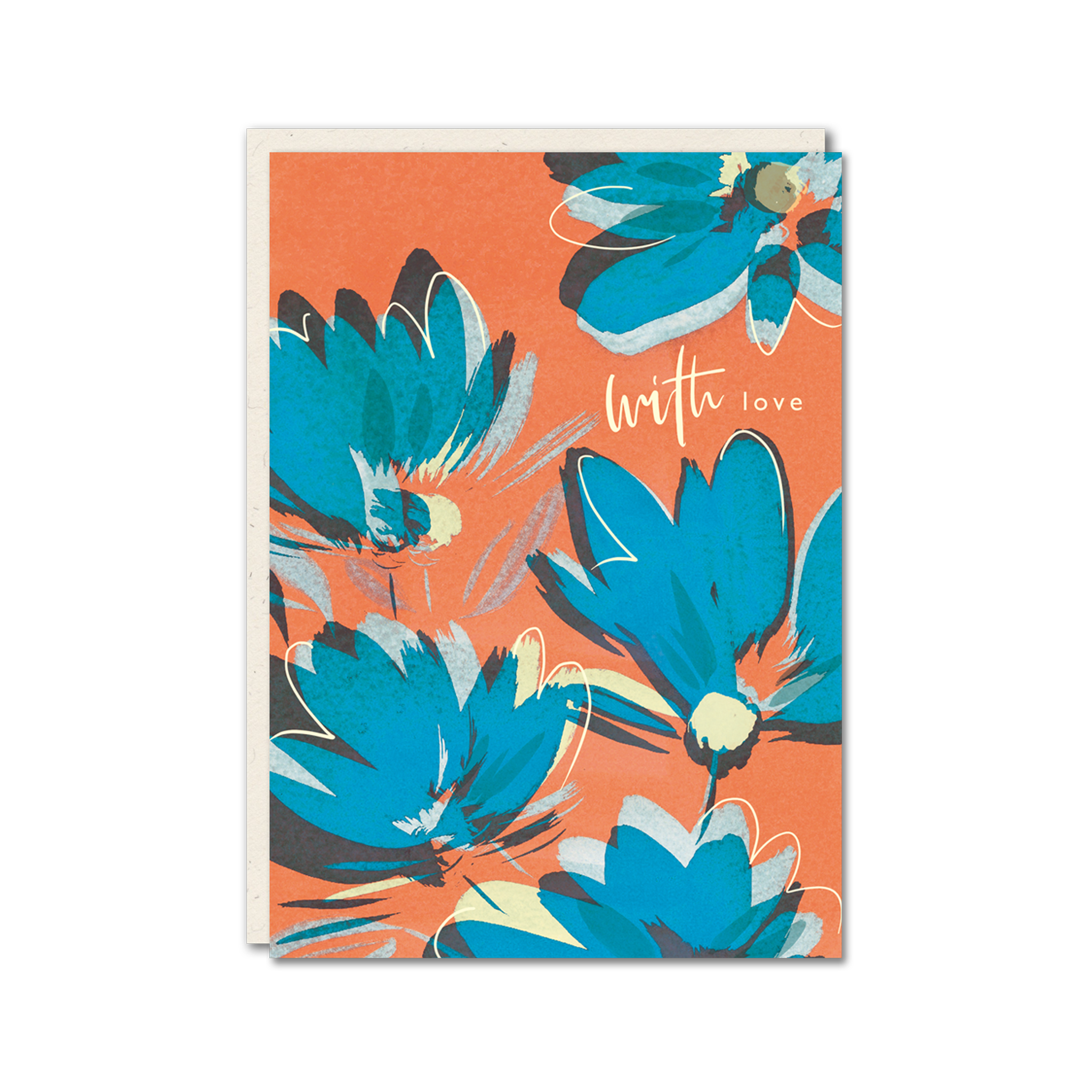Bright floral with love card