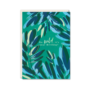 Bright floral go wild birthday card