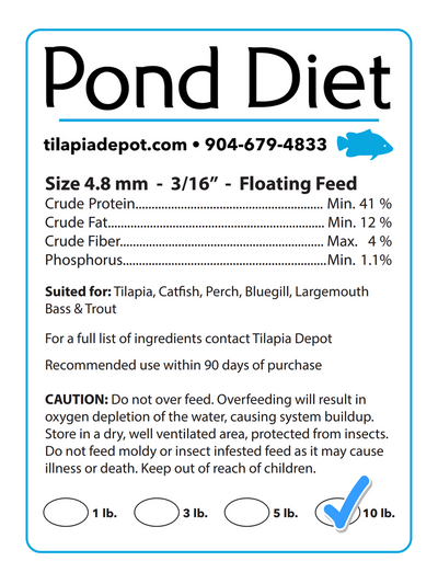Pond Diet - 10 Pounds (10lb Bag)