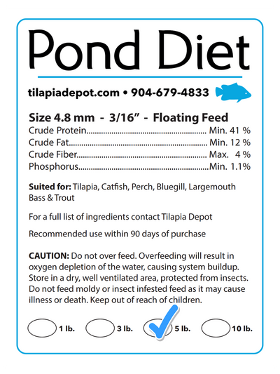 5 Pound Bag - Pond Diet (5lb Bag)