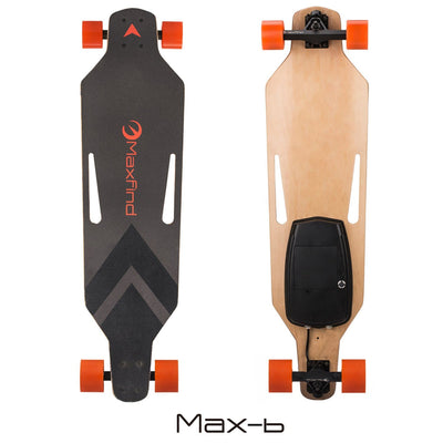 "Maxfind Max B Single Drive Electric Skateboard 38"" HUB MOTOR WHEELS - EskateboardPark"