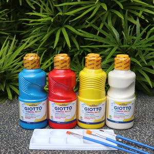 Giotto Washable School Paint (Primary Colours)
