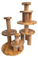 Load image into Gallery viewer, Papoose Toys Wooden Stacking Pyramid