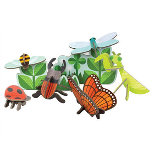 Petit Collage Pop-Out and Build Insect Life Playset