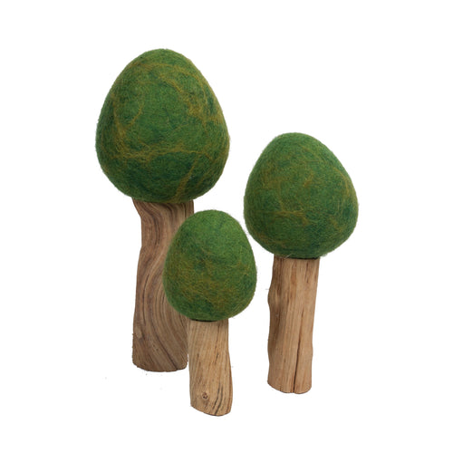 Papoose Toys Summer Trees (Set of 3)