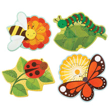 Load image into Gallery viewer, Petit Collage Garden Bugs Beginner Puzzle