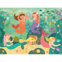Load image into Gallery viewer, Petit Collage Mermaid Friends Floor Puzzle