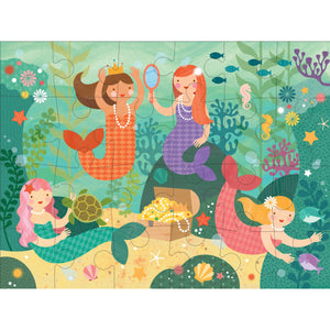 Petit Collage Mermaid Friends Floor Puzzle