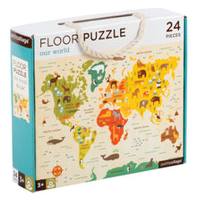 Load image into Gallery viewer, Petit Collage Our World Floor Puzzle