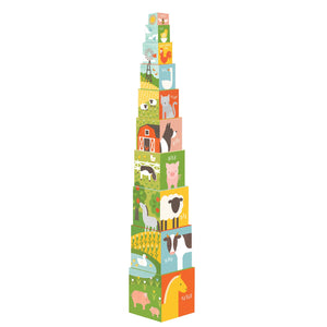 Petit Collage Farm 1-2-3 Nesting Blocks