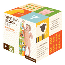 Load image into Gallery viewer, Petit Collage Farm 1-2-3 Nesting Blocks