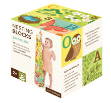 Load image into Gallery viewer, Petit Collage Garden ABC Nesting Blocks