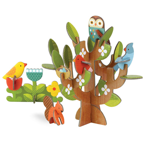 Petit Collage Pop-Out and Build Tree Friends Playset