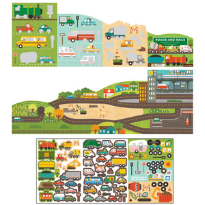 Petit Collage Roads & Rails Sticker Activity Set