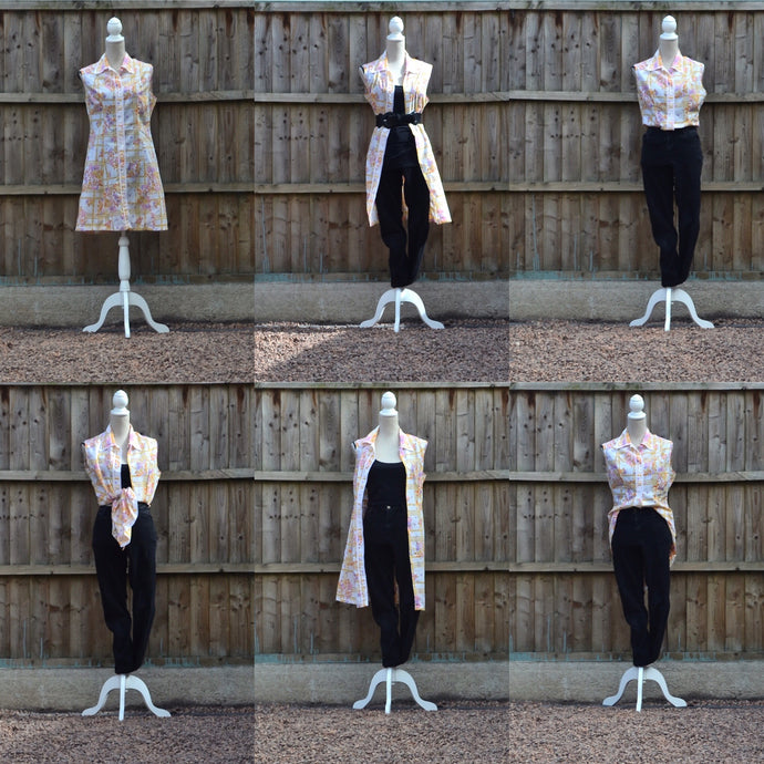 Wear your vintage dress six different ways!