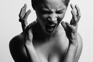 Frustrated woman having a scream