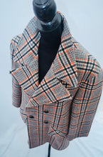 1970s Vintage winter coat | checked winter coat | Jacket with pockets | Est UK size 12/14