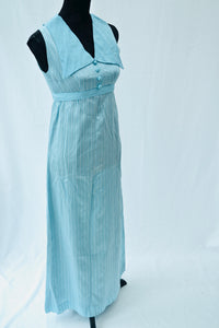 1970s over sized collar formal maxi dress, Est UK size 10