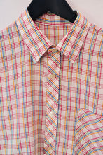 1980s Casual checked shirt | Mens short sleeved shirt |  Est UK Mens size XL