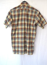 1980s Mens casual shirt | Short sleeve shirt | Checked shirt | Est UK Mens size L