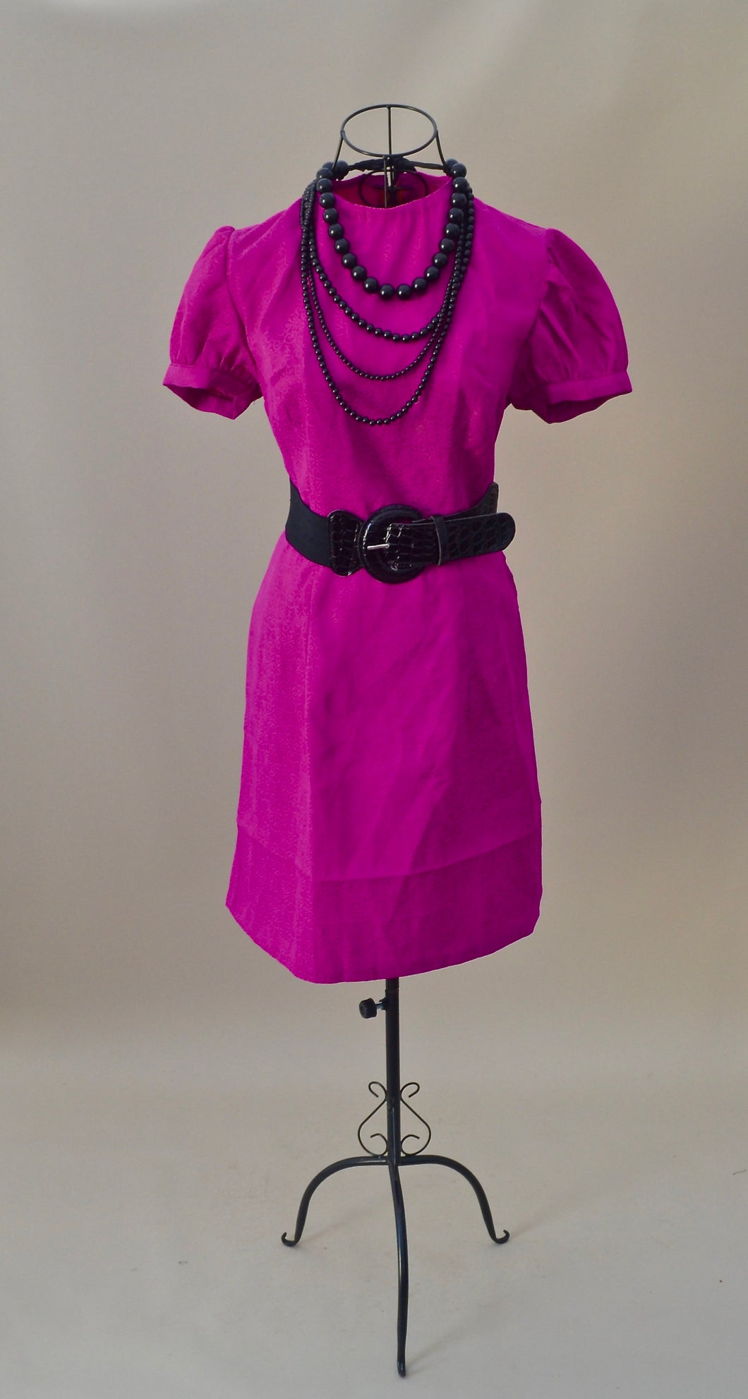 1960s Pink dress | Short sleeve dress | Evening dress | Est UK size 10