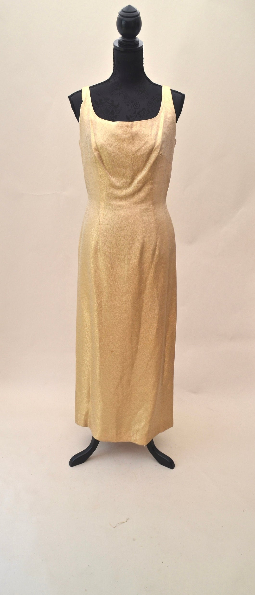 1970s maxi party dress with side split and slight plunge back | Est UK size 10