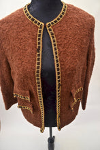 1980s jacket | Brown and gold blazer | Quirky jacket | Est UK size 12