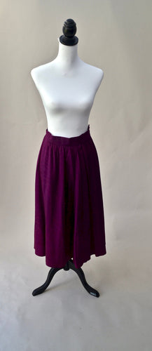 1990s Purple skirt by Jaeger | Full ladies vintage day skirt | Est UK size 10