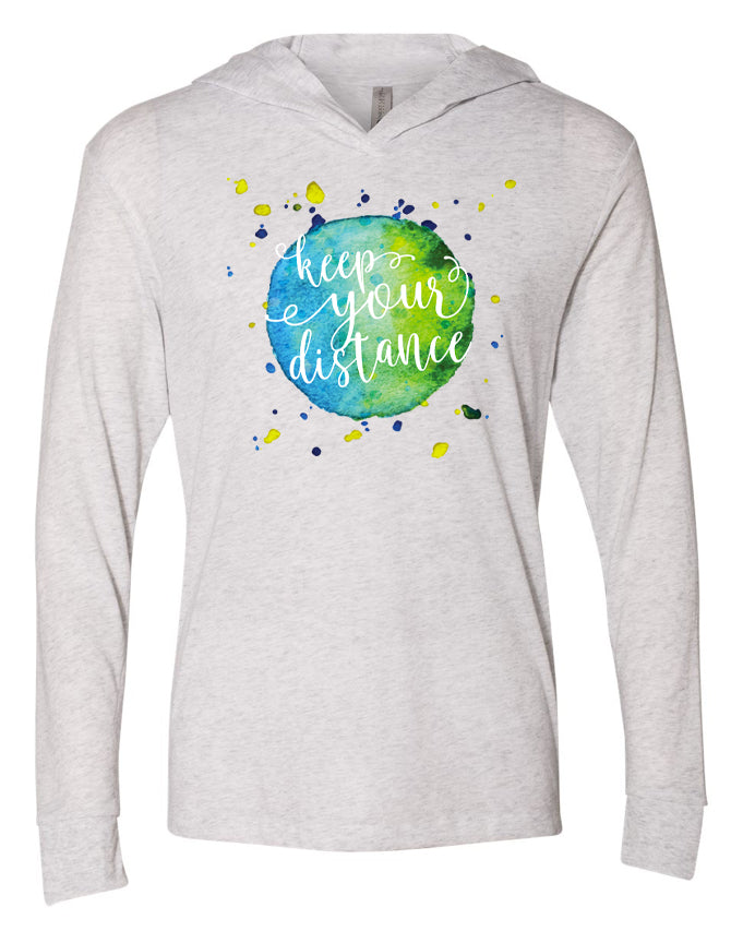 Keep Your Distance T-Shirt Style Hoodie
