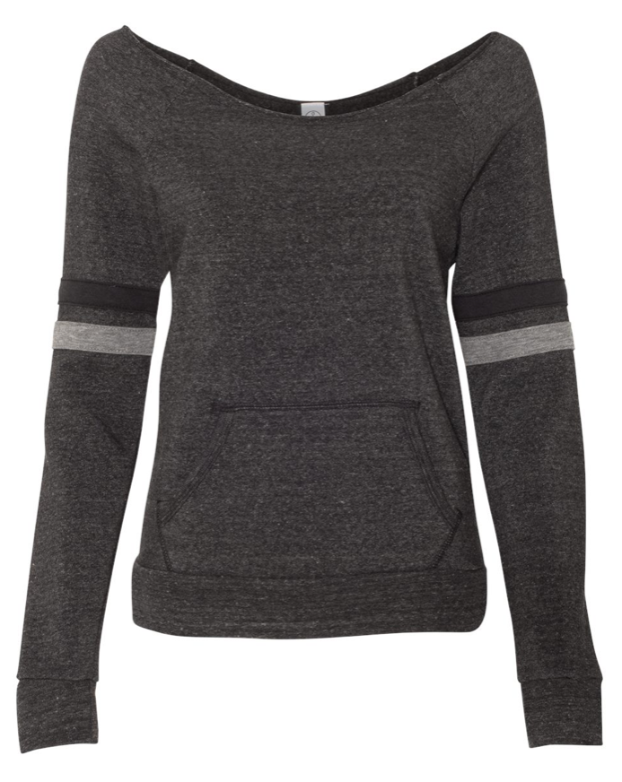 Mama Raw-edge, off-the-shoulder Eco-Fleece Sweatshirt