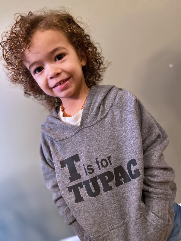 T is for Tupac Toddler Hooded Sweatshirt