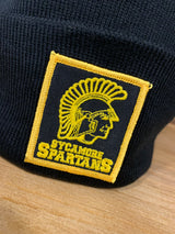 Sycamore Spartans Old School Black Knit Pom Beanie Hat