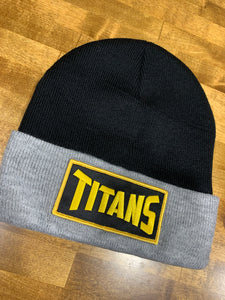 Titans Black and Gray Beanie Hat