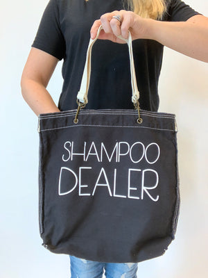 Shampoo Dealer Direct-Dyed Raw-Edge Tote