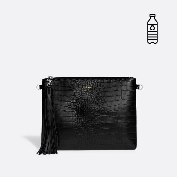 Michelle Clutch - Black Croc or Cloud Croc