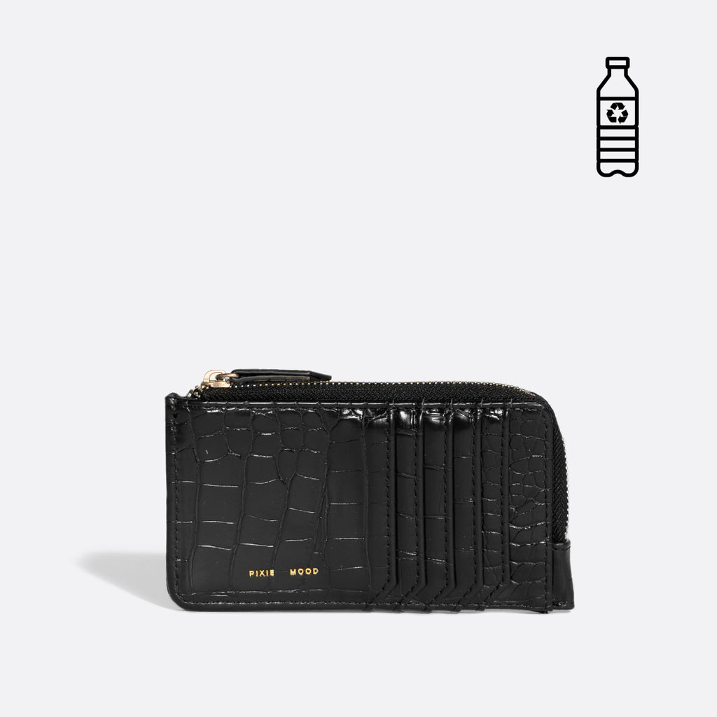 Quinn Wallet - Black Croc or Cloud Croc