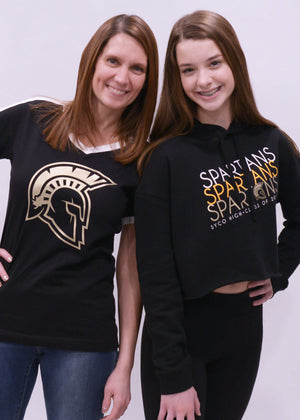 Sycamore Spartans Class of Year Cropped Hooded Sweatshirt